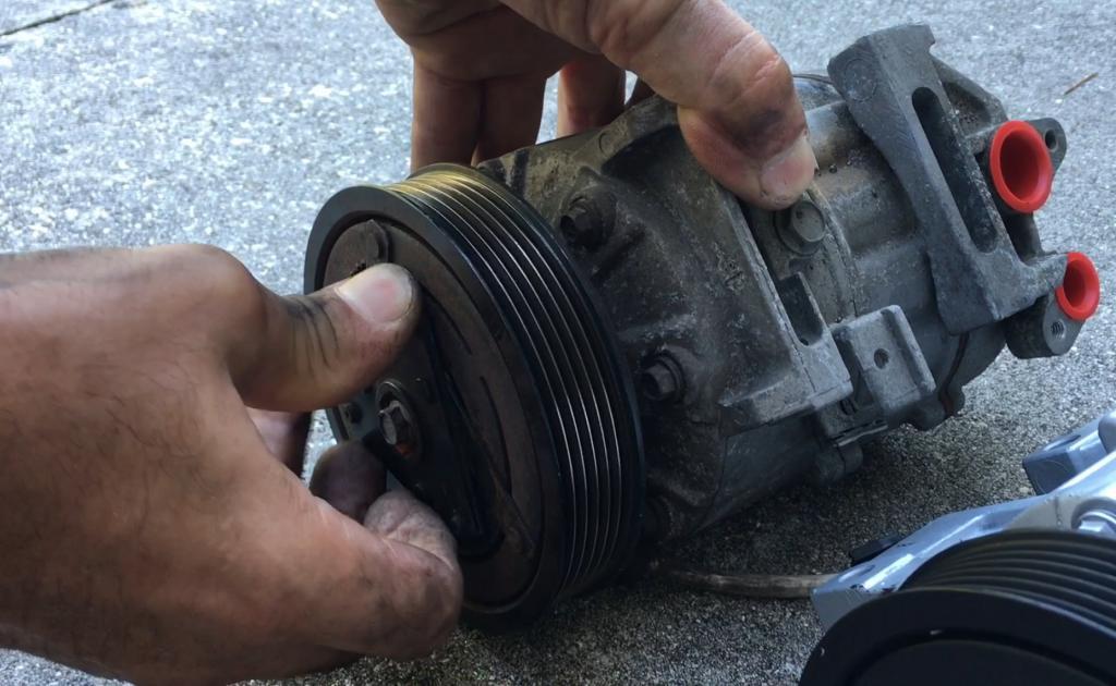 checking aircon pump compression